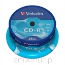 Verbatim CD-R 700MB extra protection (cake 25szt.)
